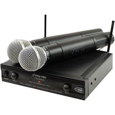 Pyle PylePro PDWM2400 Wireless Dual Channel UHF Microphone System With 2 Microphones