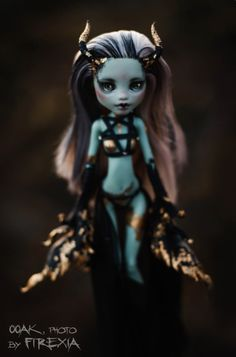Gothic Demon OOAK Repaint Custom Art Doll by Firexia Monster High Frankie Stein | eBay