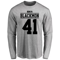 Will Blackmon Player Issued Long Sleeve T-Shirt - Ash