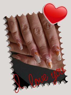 Das Design zum Valentinstag, mit Pinselmalerei