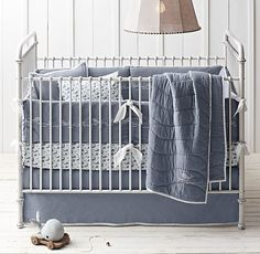 Embroidered Whale Nursery Bedding Collection (Restoration Hardware)