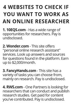 How to Generate Income From the Internet - 4 Websites To Check If You Want To Work As An Online Researcher - Wisdom Lives Here How to Generate Income From the Internet - Here's Your Opportunity To CLONE My Entire Proven Internet Business System Today! Ways To Earn Money, Earn Money From Home, Earn Money Online, Online Jobs, Way To Make Money, Online College, Legit Work From Home, Work From Home Jobs, Importance Of Time Management