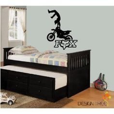 Fox Racing Motorcross Dirt Bike Vinyl Wall Art Decor