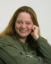 Patricia Briggs, author. Wrote the Mercy Thompson, and Alpha and Omega novels, among others.