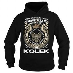 I Love KOLEK Last Name, Surname TShirt v1 T shirts