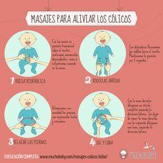 de713245a Cólico del lactante. Cómo hacer masajes a los bebés para aliviar los  cólicos. Cuidados