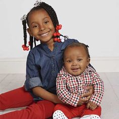 Valentine's Day photo idea. Siblings with red color accents.   JCPenney Portraits
