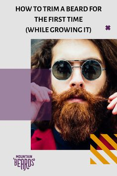 If this is your first beard, trimming is going to be completely foreign to you. But rest easy, for it's not nearly as complicated as it sounds. To make the trimming process go as smoothly as possible, here are some tips for how to trim a beard for the first time! #beard #beardtrimming #beardtrimmingtips Beard Trimming Guide, Beard Trimming Styles, Beard Styles For Men, Hair And Beard Styles, Thin Beard, Short Beard, Mens Beard Grooming, Men's Grooming, Trim Beard Neckline