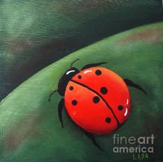 Lady bug Painting by Lada Ladik - Lady bug Fine Art Prints and Posters for Sale