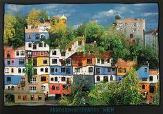Hunterwasser...love his work!  The houses/apts. are incredible!