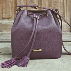 #the5thelementbags #rosettishowroom #leather #bucketbag #plum #springsummer #SS2016