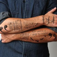 Love this collection of literary tattoos (even though they are stick ons) :)