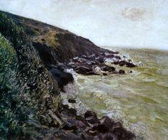 Alfred Sisley High wind (1897)
