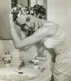 Screw showering: Just wash your roots in the sink. | 44 Lazy Girl Beauty Hacks To Try Right Now