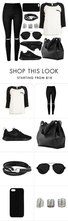 """Untitled #3720"" by natalyasidunova ❤ liked on Polyvore featuring VILA, NIKE, Bling Jewelry, 3.1 Phillip Lim, Maison Takuya and Topshop"