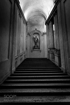 The begining of Bernini's staircase at Palazzo Barberini by bampgs Baroque Architecture, Diesel Punk, City Buildings, Urban Design, Palazzo, The Good Place, Fantasy Art, Beautiful Homes, Skyscraper