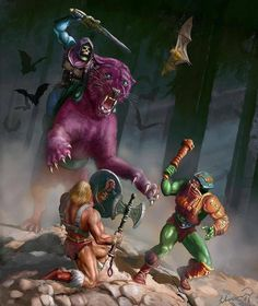 Skeletor and Panthor vs. He-Man and Man-At-Arms   Masters of the Universe