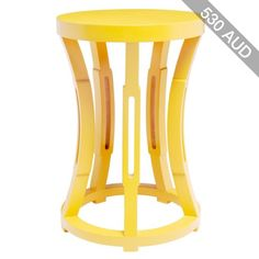 Bungalow 5 Hourglass Yellow Stool/Side Table