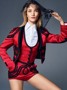 New Pieces: Rosie Huntington-Whiteley By Kai Z Feng For Uk Elle February 2015 - Dolce & Gabbana