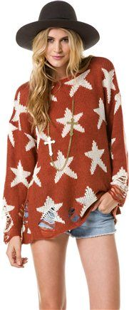 WILDFOX SEEING STARS SWEATER | Swell.com