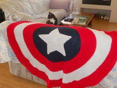 Free Crochet Pattern For Captain America Blanket : Little Super Hero Blanket - Free pattern Crochet Afghans ...