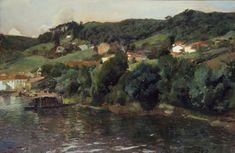 "joaquín sorolla y bastida - ""paisaje asturiano"" (asturian landscape),1903, oil on canvas (brooklyn museum)"