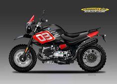 Motorcycle Design - by Oberdan Bezzi Bmw Scrambler, Motos Bmw, Ducati Pantah, Ducati Supersport, R Cafe, Moto Cafe, Bobber Custom, Scrambler Custom, Bmw Boxer