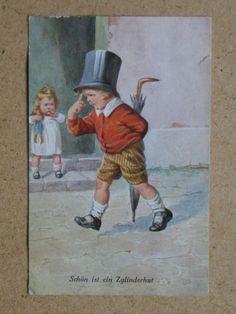 Young-Boy-wearing-a-Top-Hat-Wally-Fialkowska-1920s-German-Art-PC-ref-PC7-19