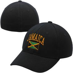 Top of the World Jamaica Country 1Fit Flex Hat - Black