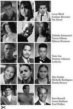 Fast & Furious cast in high school - This is the best!!!!! Vin, Paul, The Rock, and Ludacris are the funniest :)