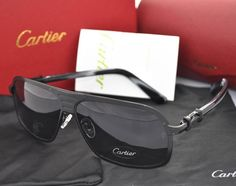 Black series cartier aviator men's sunglasses $49.39 Find your new favorite #glasses Cartier Sunglasses, Mens Sunglasses, Cartier Santos, Black Series, Clothing Items, Eyewear, Shades, Mens Fashion, Aviator