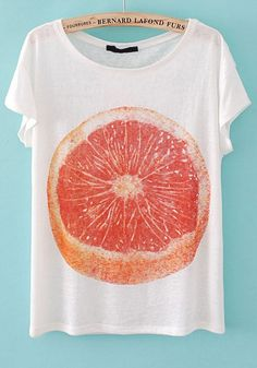 Frutas cítricas hasta en la ropa, para que el cuidado de la salud sea un statement   http://www.halftee.com