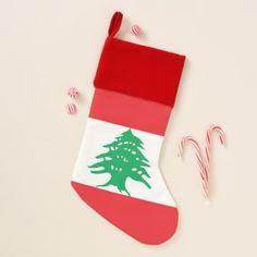 Christmas Stockings Flag of Lebanon - holidays diy custom design cyo holiday family