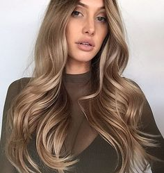 Super Ideas For Hair Goals Brown Balayage Waves Long Curly Hair, Curly Hair Styles, Short Hair, Brown Blonde Hair, Dark Blonde, Blondish Brown Hair, Brown Curls, Medium Blonde, Hair Medium