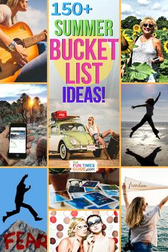 Summer Bucket List Ideas For Adults - A list of 150+ fun (crazy) things to do this summer. Be sure to add them to your summer Bucket List! #summer #adultfun #thingstodo #travelideas #bucketlist