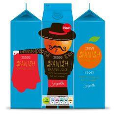 P Design Consultants: Spanish Orange Juice | Tesco