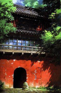 Hayao Miyazaki's Beautiful Backgrounds from Spirited Away