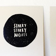 Starry Nights Card Starry Nights, Greeting Cards, Illustration, Illustrations