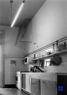 Álvaro Siza /// Kitchen for his grandmother's house /// Matosinhos, Portugal /// 1953. This is Siza's very first built project and it comes as a teaser for our next three weeks at OfHouses, dedicated to Álvaro Siza's houses in the region of Porto.