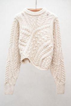 Chunky knit.