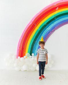 Rainbow Balloon Backdrop | Oh Happy Day!