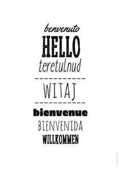 Plakaty do domu - Witaj (języki)