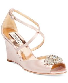 Badgley Mischka Abigail Evening Wedge Sandals | macys.com