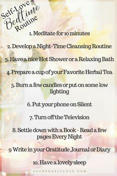 Self Love Bedtime Routine __ Getting a Good Night's Sleep is vital! Not only does it prepare you for the day ahead, in the long run, a good night's sleep can reduce the effects of depression and heart-related. Pin Me, share me, try me, click me. Everybody needs a little love. Self Love, Self Care, Wellbeing