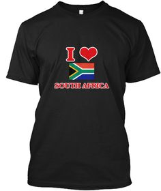 I Love South Africa Black T-Shirt Front - This is the perfect gift for someone who loves South Africa. Thank you for visiting my page (Related terms: I Heart South Africa,South Africa,South African,South Africa Travel,I Love My Country,South Africa F #South Africa, #South Africashirts...)
