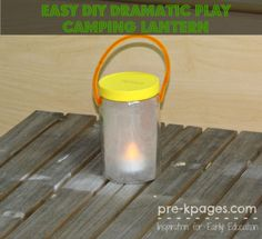 Easy DIY Lantern for Dramatic Play Camping Theme in Preschool and Kindergarten