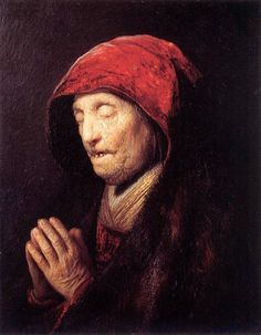 Rembrandt: Bust of an Old Woman at Prayer (1629-30)