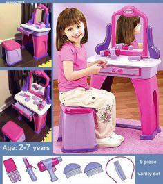 Princess Vanity Table & Chair Set | Vanity tables, Vanities and ...