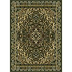 Add a luxurious element to any room in your home or office with this sage traditional area rug. The synthetic rug features a detailed oriental design that will complement any decor. Its 0.4-inch pile height make it both beautiful and easy to clean.