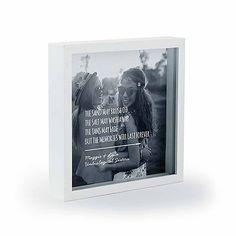 "Shadow Box Photo Frame - ""Beach"" Etching"